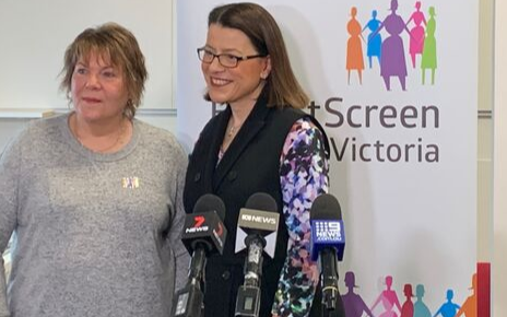 BSV ambassador Kerri Welsh and the Minister for Health Jenny Mikakos.